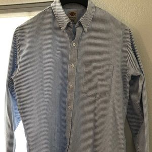 Dickies Workwear Button Down Shirt Mens Striped